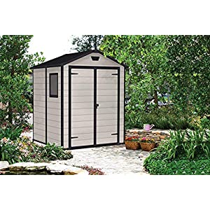 Keter-Manor-Outdoor-Plastic-Garden-Storage-Shed-Beige-6-x-5-ft