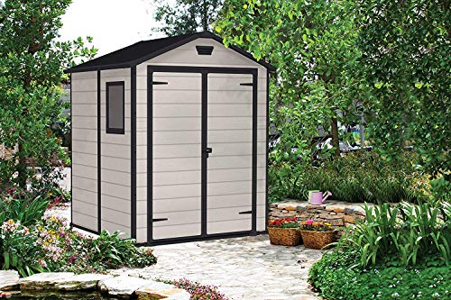 Keter-Manor-Outdoor-Plastic-Garden-Storage-Shed-Beige-6-x-5-ft