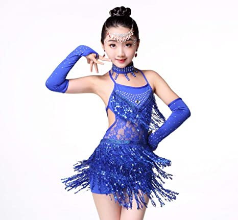 YZLL Niño Trajes de Baile Latino para niños niñas con ...