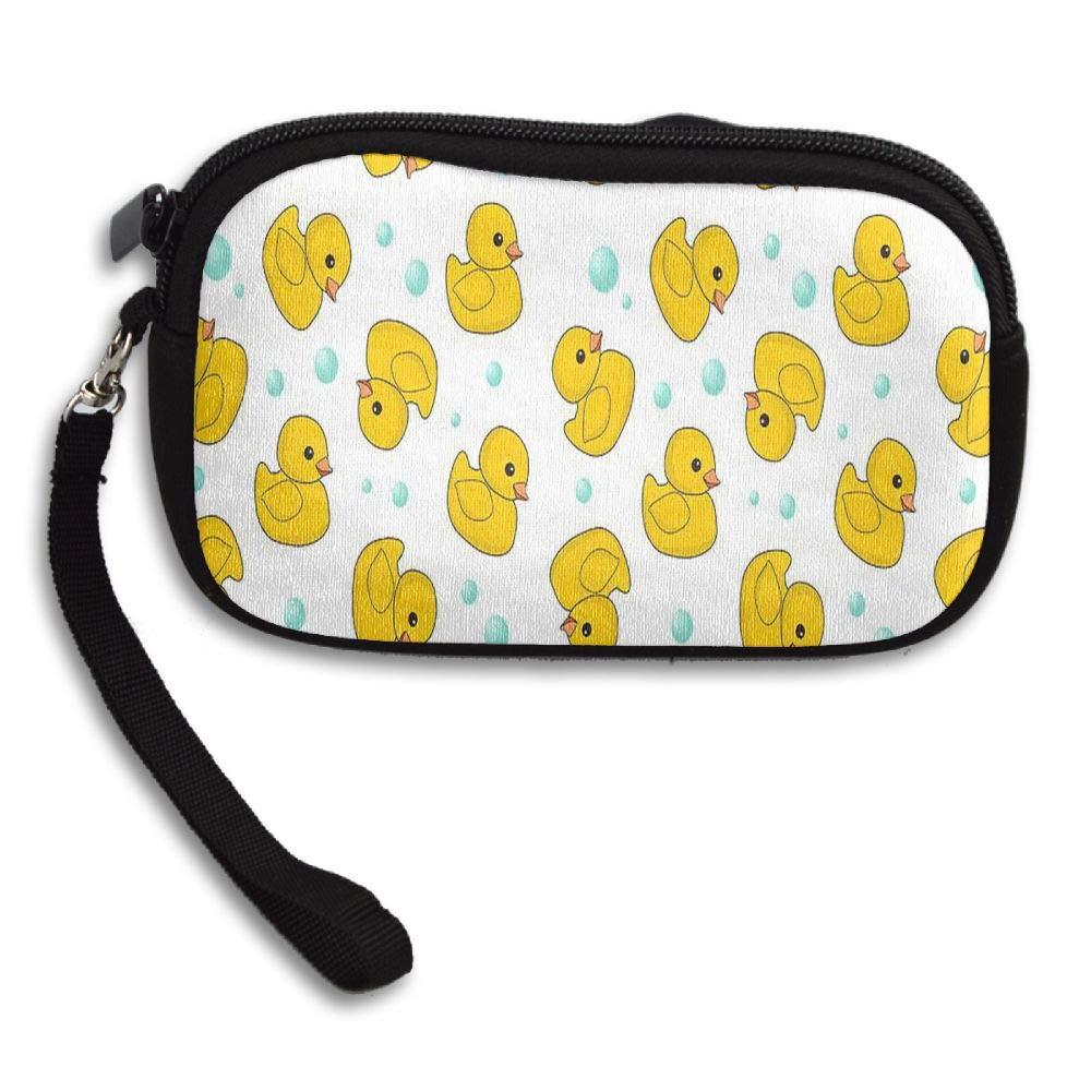 Bubble Duck Custom Zip Handbag Coin Purse Change Cash Wallet