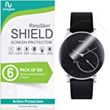 RinoGear withings Activite Steel Screen Protector [6-Pack] Case Friendly Screen Protector for withings Activite Steel Accessory Full Coverage Clear Film