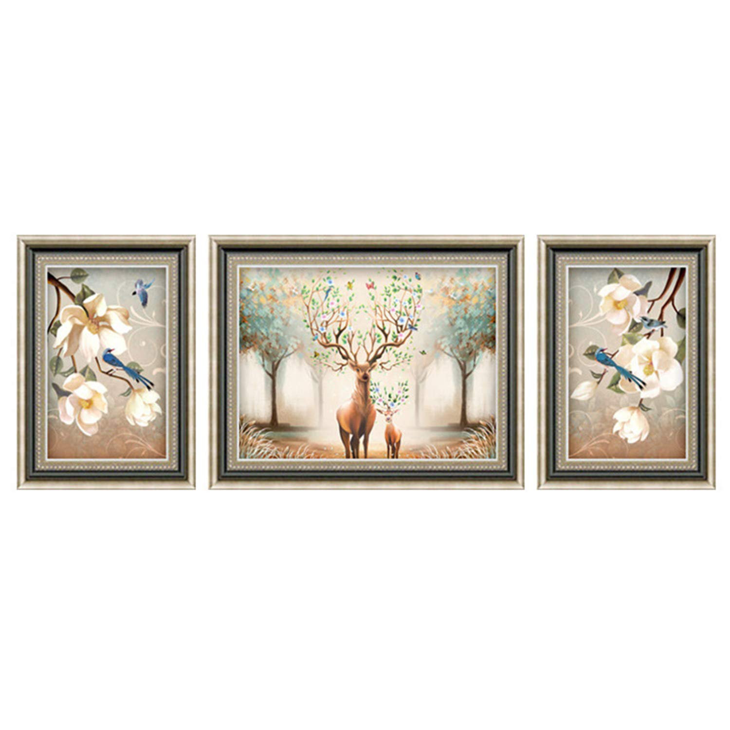 LUHSICE Large Painting with Diamonds - Rich Deer, (Round Drill 280x100cm) by LUHSICE