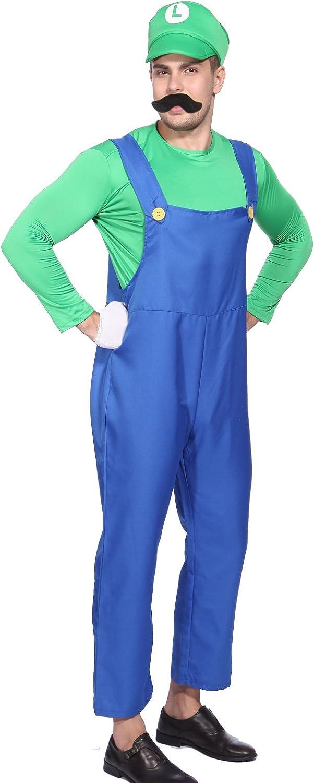 Anladia CLE DE Tous - Disfraz de Luigi para Adulto Hombre Cosplay ...