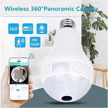 360 Degree WiFi Panoramic 960P IR Bulb Camera Security Wireless Lamp Fisheye