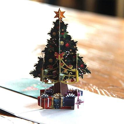 Alberi Di Natale Per Auguri.Biglietti Di Auguri 3d Pop Up Regalo Per Natale Capodanno Compleanno Con Albero Della Natura Biglietto Per La Mamma Christmas Decimal Amazon It Cancelleria E Prodotti Per Ufficio