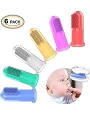 OZUAR 6 Pcs Bebé Cepillo de Dientes de los niños de Silicona Goma del Cepillo de
