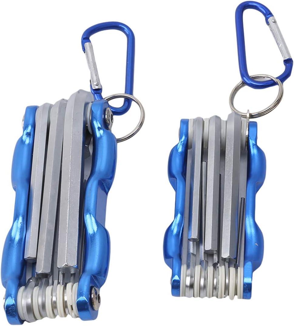 Bigsweety Folding Hex Key Set Allen Wrench Set for Bikes Automobile Machinery Repair Torx Keys