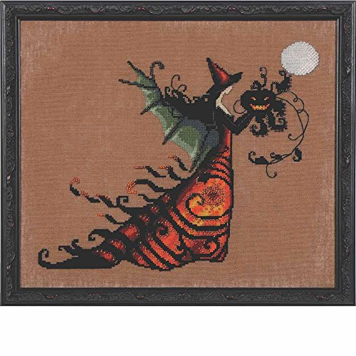 (Mirabilia Electra LINEN Kit Beaded Counted Cross Stitch by Nora Corbett Designs NC219 Bewitching Pixies (Bundle: Chart, Fabric, Beads) )