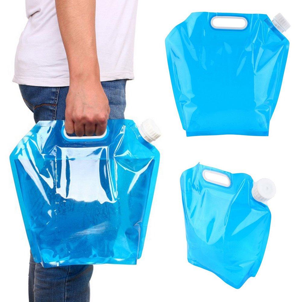 steellwingsf hidratación 5L/10L plegable agua potable envase bolsa para al aire libre Camping senderismo picnic