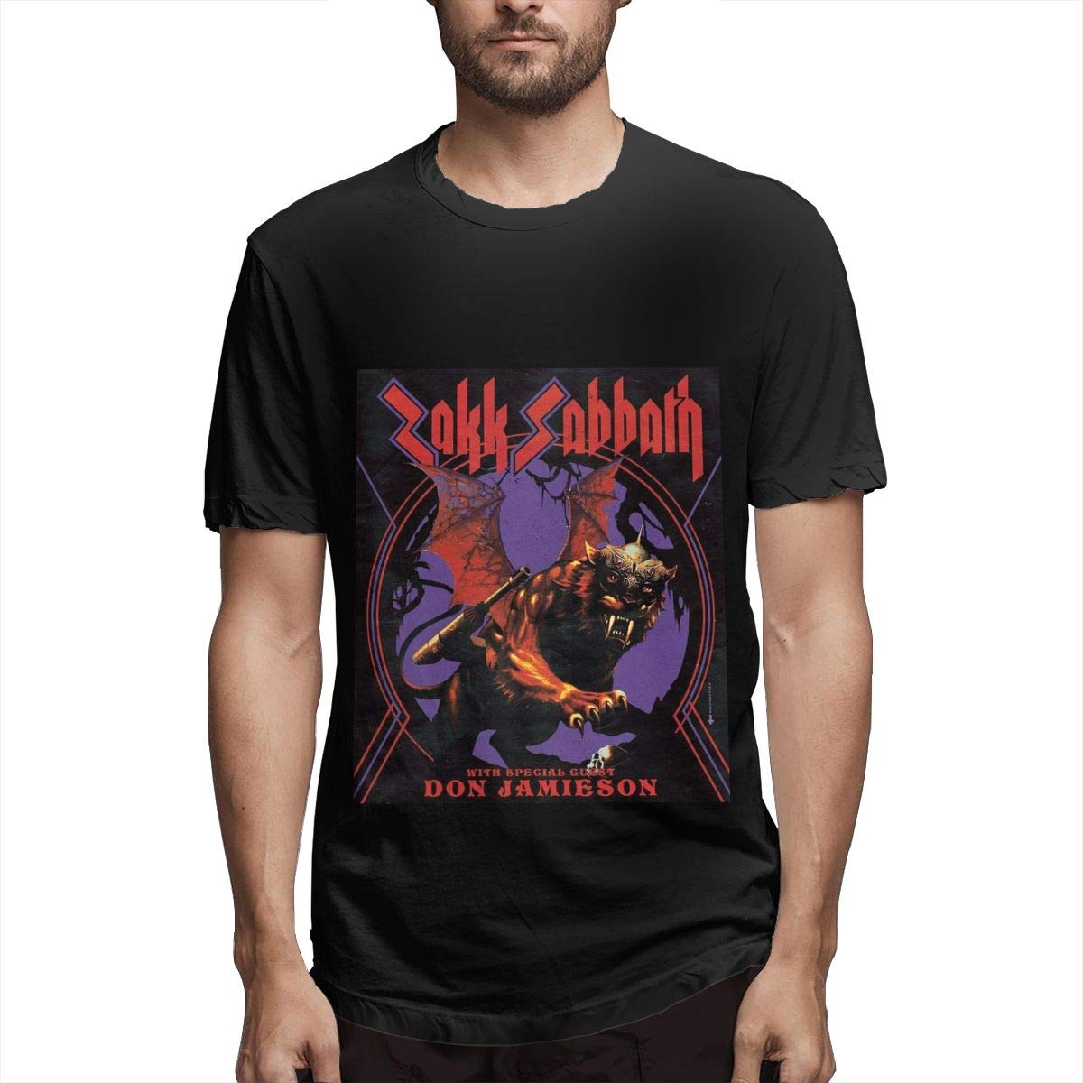 Lihehen S Black Label Society Simple Casual Round Neck Tees Shirts