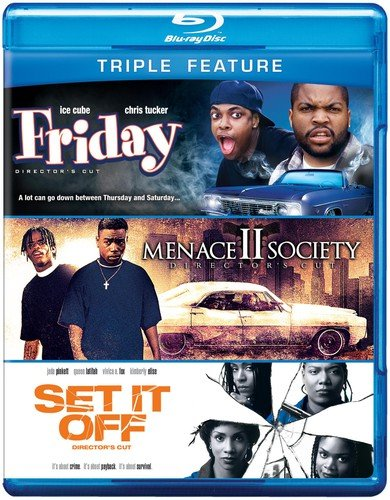 Blu-ray : Friday/ Menace II Society/ Set It Off (3 Disc)