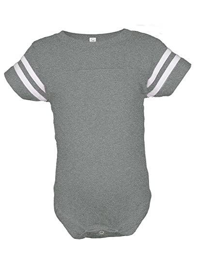 404a36f89ba Infant Baby Boys or Girls Football Jersey Style Creeper / Onesie / Bodysuit  / Snapsuit (