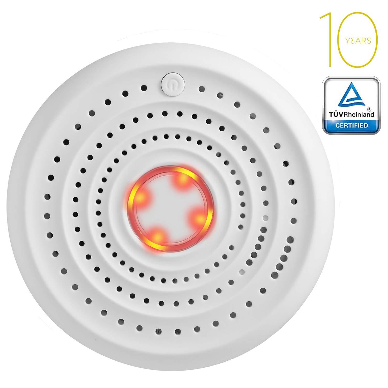 SENDOWTEK Detector de Humo, EN14604,CE,ROHS,REACH, Alarma de Humo, para Cocina,Habitacion,Sala de Estar,Oficina (Pequeño botón)