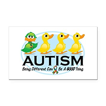 Cafepress autism ugly duckling rectangle car magnet rectangle car magnet magnetic bumper sticker