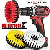 Tile and Grout, Tub, Shower, Sink, Porcelain Drill Powered Cleaning Rotary Electric Brush Kit