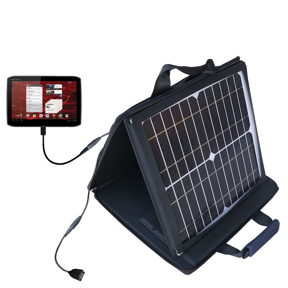 Gomadic SunVolt High Output Portable Solar Power Station designed for the Motorola Xoom 2 - Can charge multiple devices with outlet speeds by Gomadic