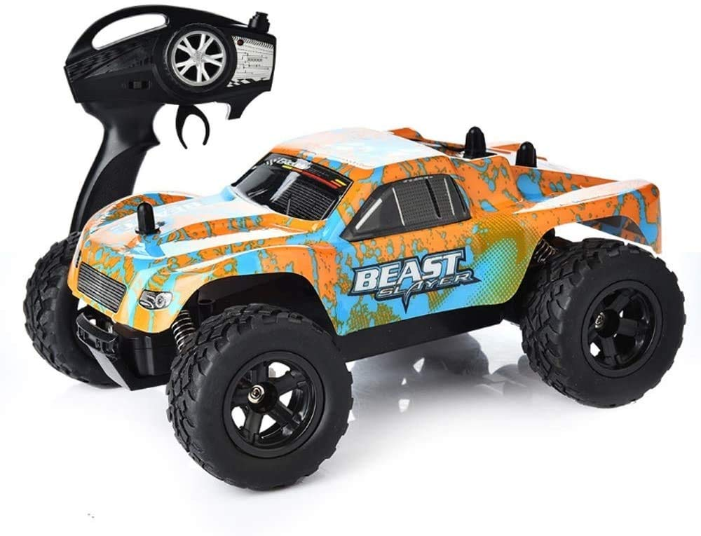 ZHANGL RC Vehicle Off Road Truck Electric Racing Remote Control Car 4WD 1:24 Radio Control Cars Hobby Toys 2.4 GHZ High Speed Simulation Model Toy with Rechargeable Batteries Best Xmas Gift for Kids