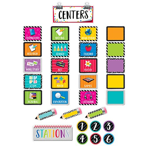 Creative Teaching Press Mini Bulletin Board Bold & Bright Classroom Centers (2173) (Signs Center School)