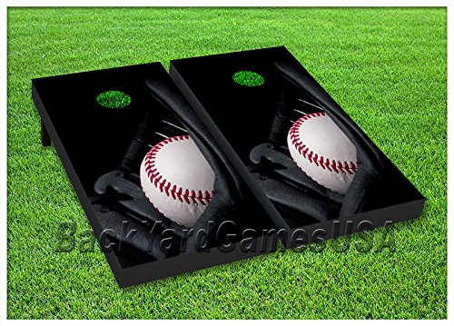 - VINYL WRAPS Cornhole Boards DECALS Baseball Glove Bag Toss Game Stickers 122
