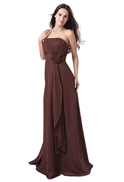 Sheath/Column Strapless Floor-length Chiffon Ombre Evening/Prom Dress(2)