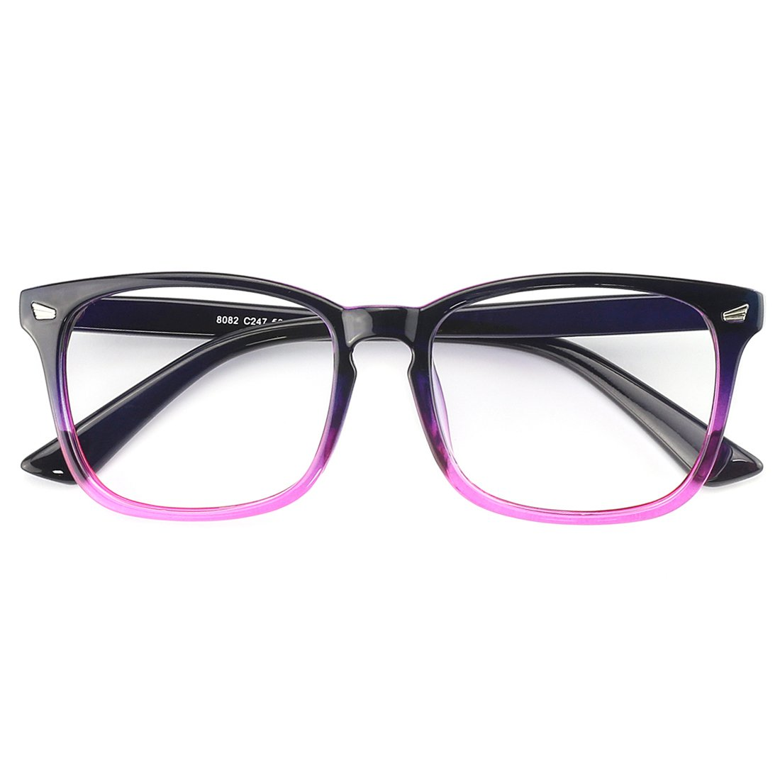 Slocyclub Blue light Blocking Glasses Vintage Nerd Square Keyhole Design Eyeglasses Frame for Women Men