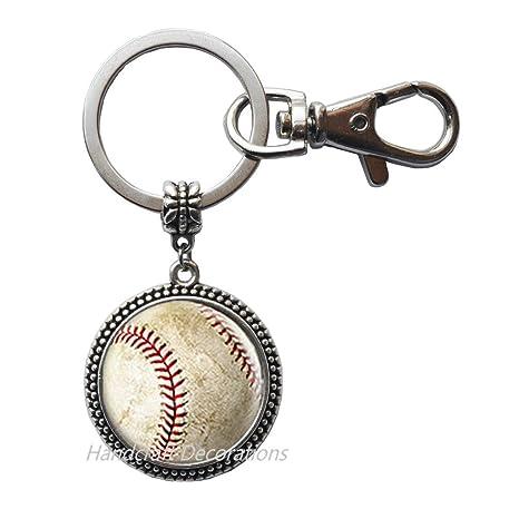 Amazon.com: Llavero de béisbol, dije de béisbol, llavero de ...