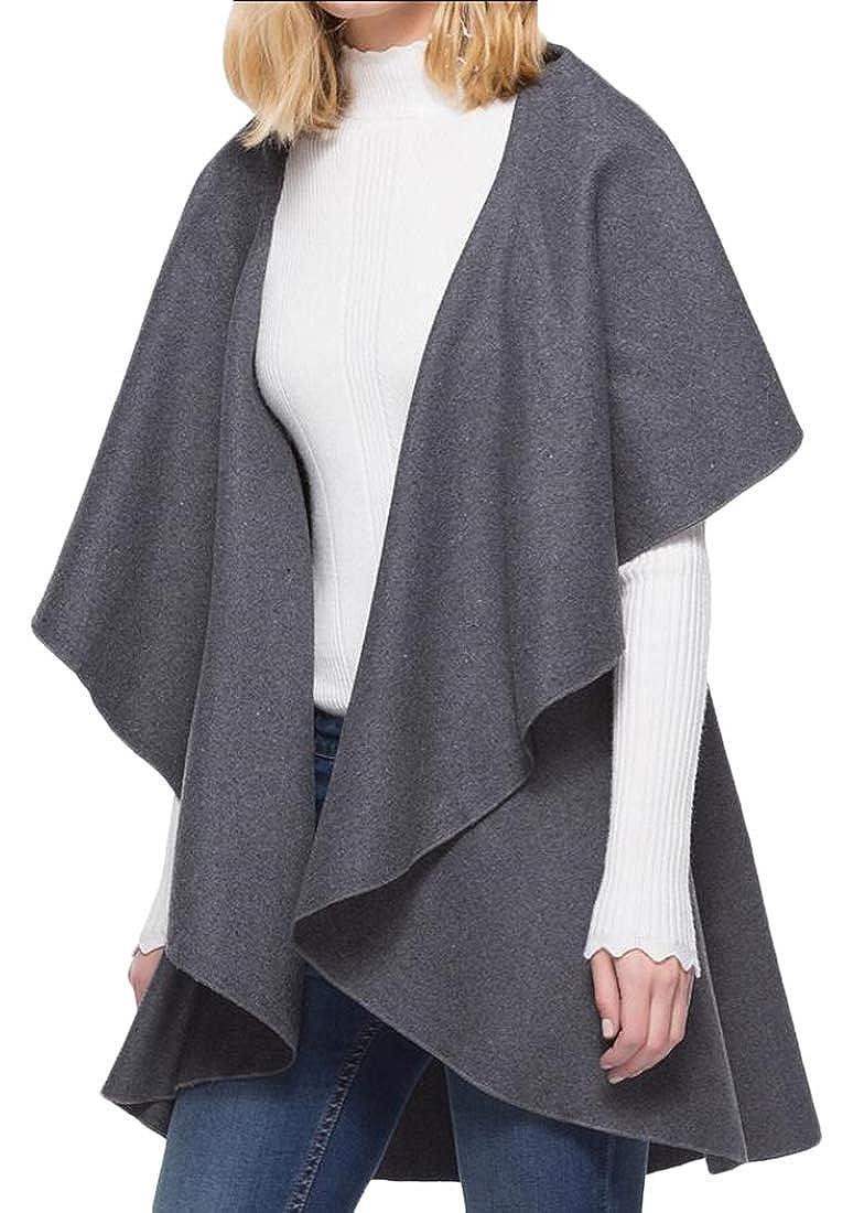 Generic Womens Vest Sleeveless Asymetric Hem Open Front Drape Long Cardigan