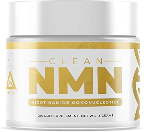 Clean NMN Powder: [13 Grams] Stabilized Nicotinamide Mononucleotide Supplement   NAD+ Precursor   Healthy Aging DNA-Repair   Third-Party Tested   by LevelUp (Unflavored, 100% Pure)