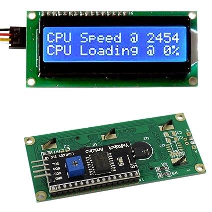 amazon com frentaly� iic i2c twi 1602 serial blue backlight lcd  at Qunqi 11c 12c Twi 1602 Wiring Diagram