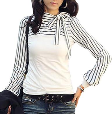 ltyy para mujer Fashion Tops Camisa de manga farol: Amazon.es: Ropa y accesorios