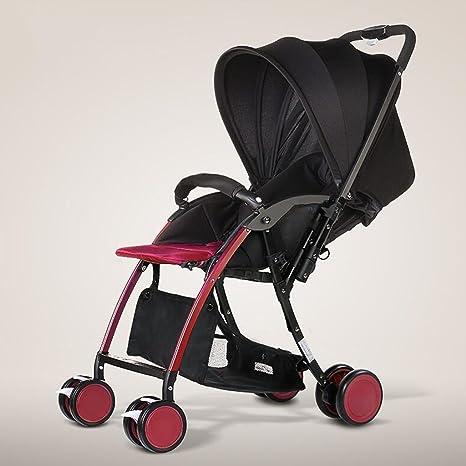 Los carros de bebé pueden sentarse Horizontal plegable plegable de dos vías Amortiguador Recién nacido cuatro