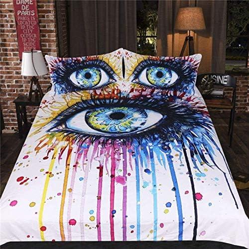 寝具布団カバー 3 Dのティーンエイジャーの描画涙寝具セット3、寝室の装飾、2.2MlongBed キルト掛け布団寝具セット (サイズ : 1.5MlongBed)