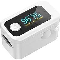 Oxímetro de pulso dedo profesional Wawech Pulsioximetro de Dedo con pantalla LED medidor de oxígeno en sangre portátil…