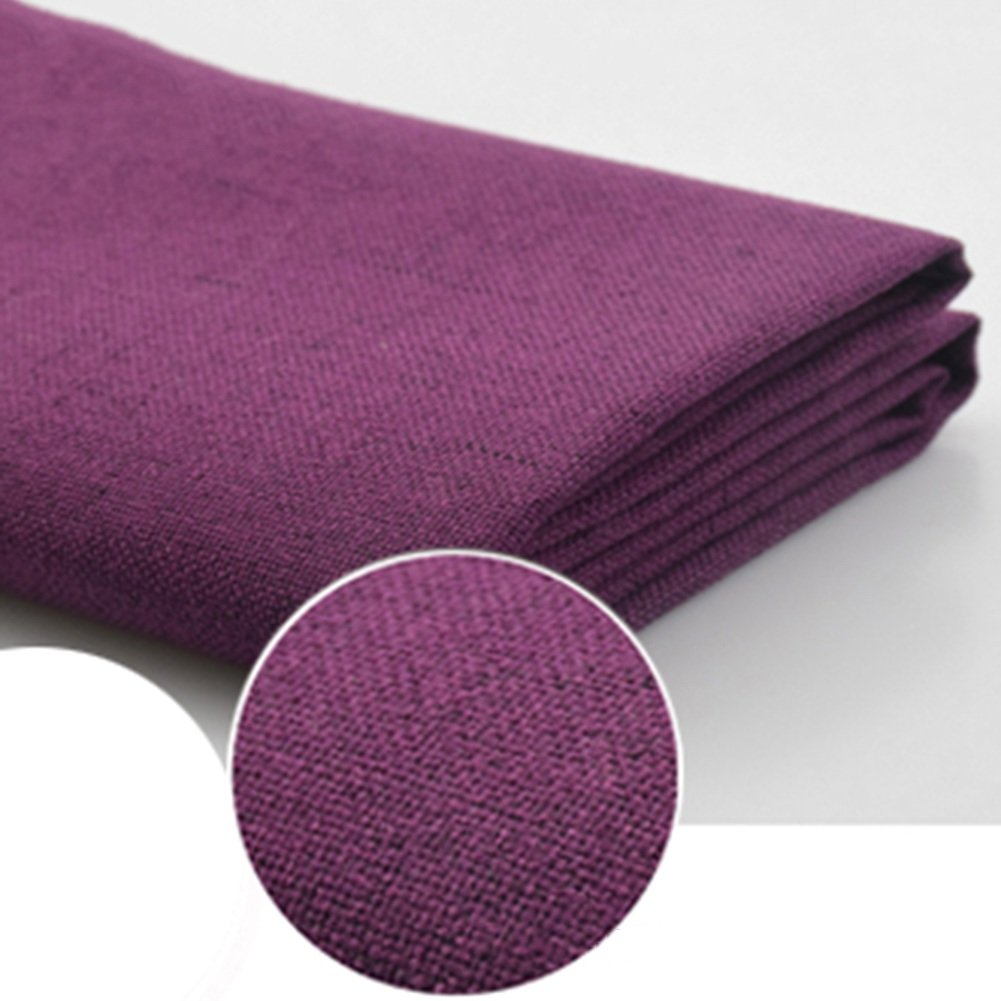 QIANGDA Backrest Cushion Flax Lumbar Support Bedside Soft Pad Sponge Filling Detachable For Single/double Bedroom, 6 Solid Colors, 6 Sizes Available (Color : Dark purple, Size : 180 x 10 x 50cm)