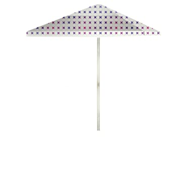 Best Of Times Retro X Patio Umbrella, 8u0027, Multicolor/White