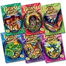 Beast Quest Series 6 Collection - 6 Books RRP £29.94 (31. Komodo the Lizard King; 32. Muro the Rat Monster; 33. Fang the Bat Fiend; 34. Murk the Swamp Man; 35. Terra the Curse of the Forest; 36. Vespick the Wasp Queen)
