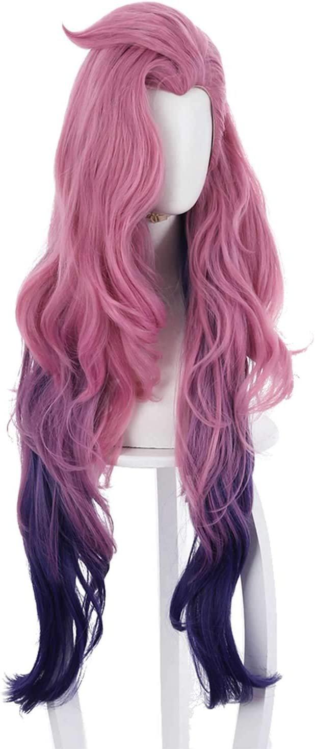 Legends Seraphine - Peluca larga rizada, color rosa, lila ...