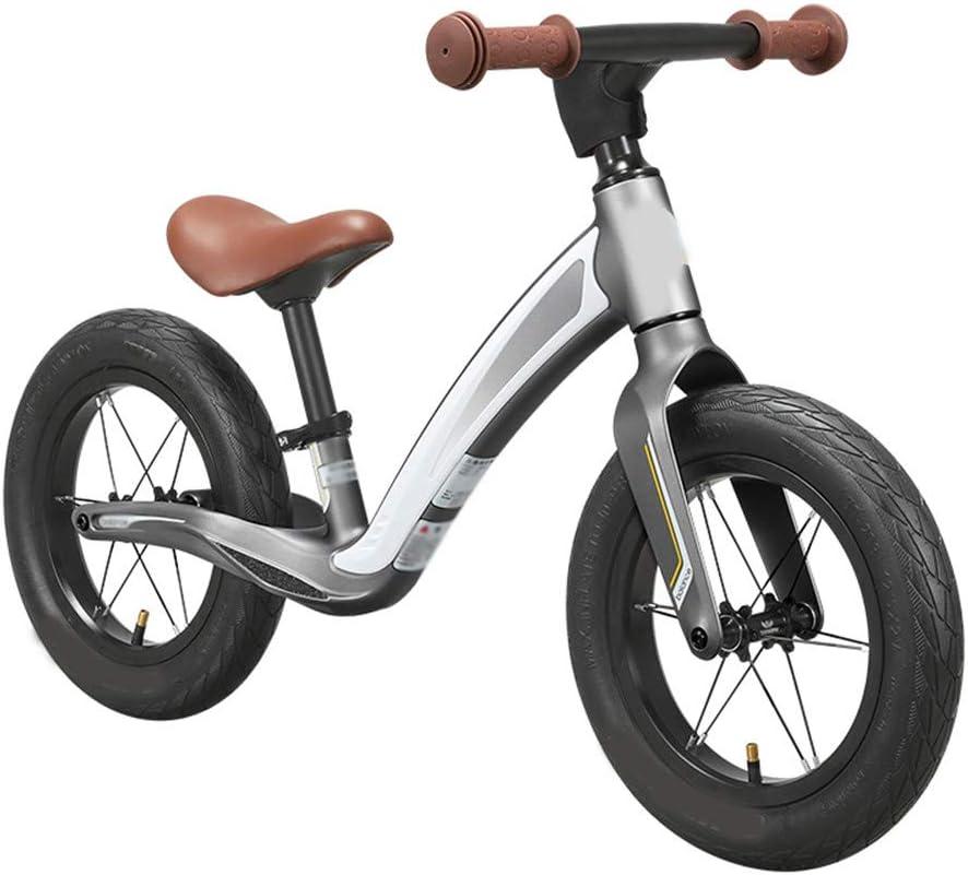 SSCYHT Bicicleta de Equilibrio para niños Bicicleta de Equilibrio para Principiantes para niños Bicicleta de Equilibrio Ligera Niños y niñas Adecuado para niños y niñas de 1.5-5 años,Gris