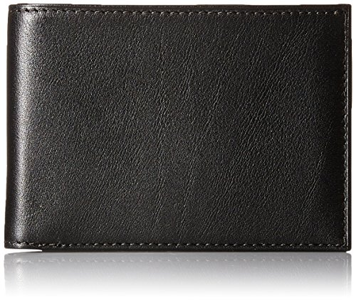 Bosca Men's Nappa Vitello Small Bifold Wallet, Black (Fold Bi Wallet Bosca)
