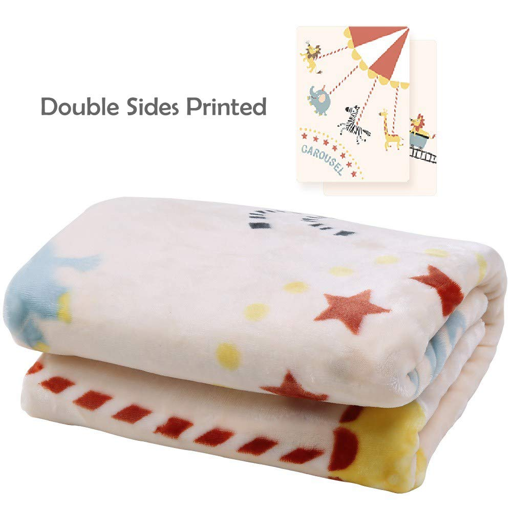 i-baby Baby Blankets Toddler Blankets for Girls Boys Children Soft Big Flannel Blankets Pink Blue Cot Throws Swaddle Newborns Four Seasons Double-sided Cartoon 110 x 140 cm for 1 to 6 years kids (Dream Fly)