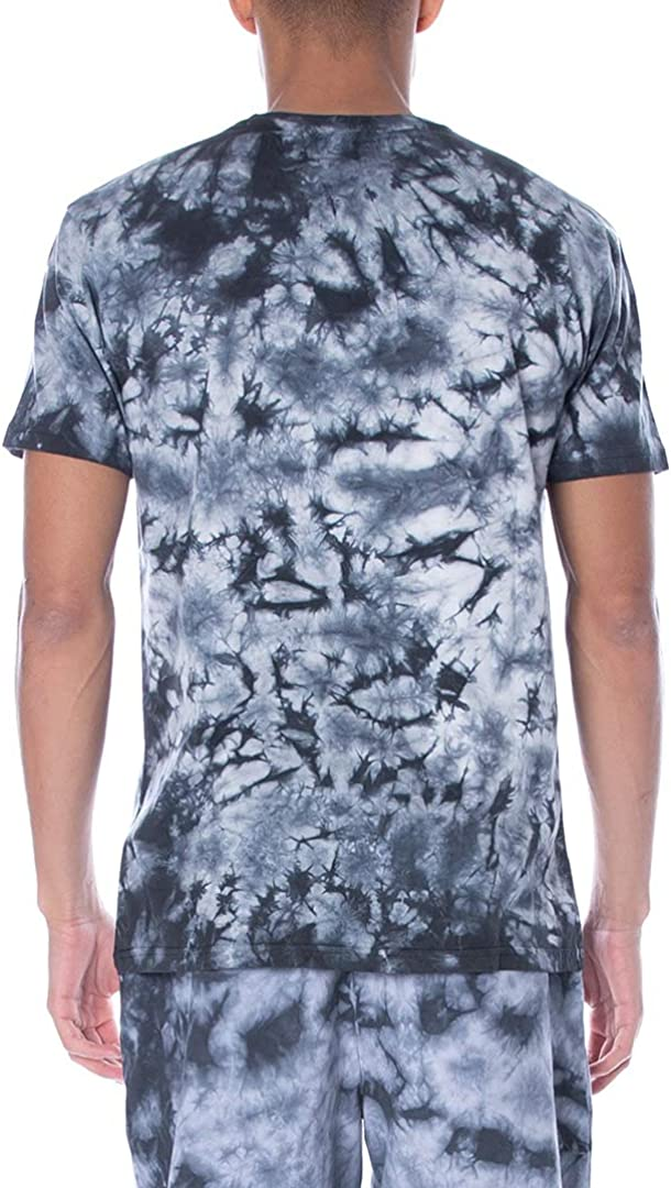 KAPPA MENS AUTHENTIC COSTIUM TIE DYE T-SHIRT 304S0U0-A02 BLK//WHT