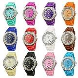 NYKKOLA Wholesale 12 Assorted Geneva Women's Watches