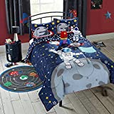 Better Homes and Gardens Kids 3-Piece TWIN Size Astronaut Comforter Set with BONUS Glade Room Spray Air Freshener