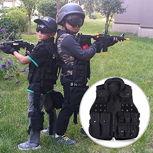 Kid/Children Nylon Tactical Vest 600D Outdoor Kids/Children Waistcoat Cs Field Combat Training Military Army Tactical Vest