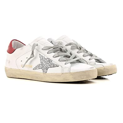 5ca787fd867b57 Golden Goose Deluxe Brand Superstar Silver Glitter Women Sneakers  G33WS590.H16 Size 35 (5