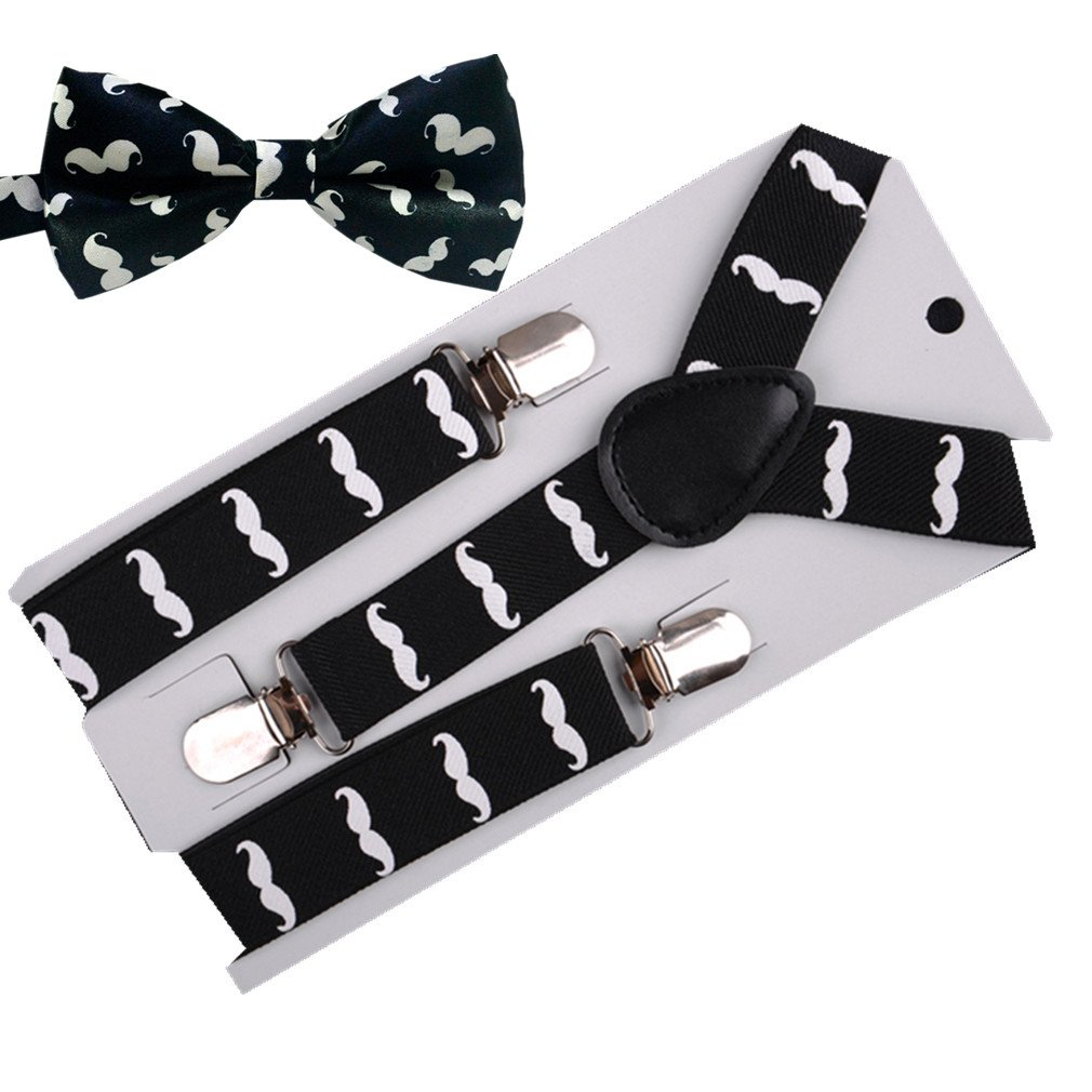 RUOYUCL Kids&Baby Rainbow Bow-Ties&Suspenders 2pcs Set Girls&Boys RUO5188