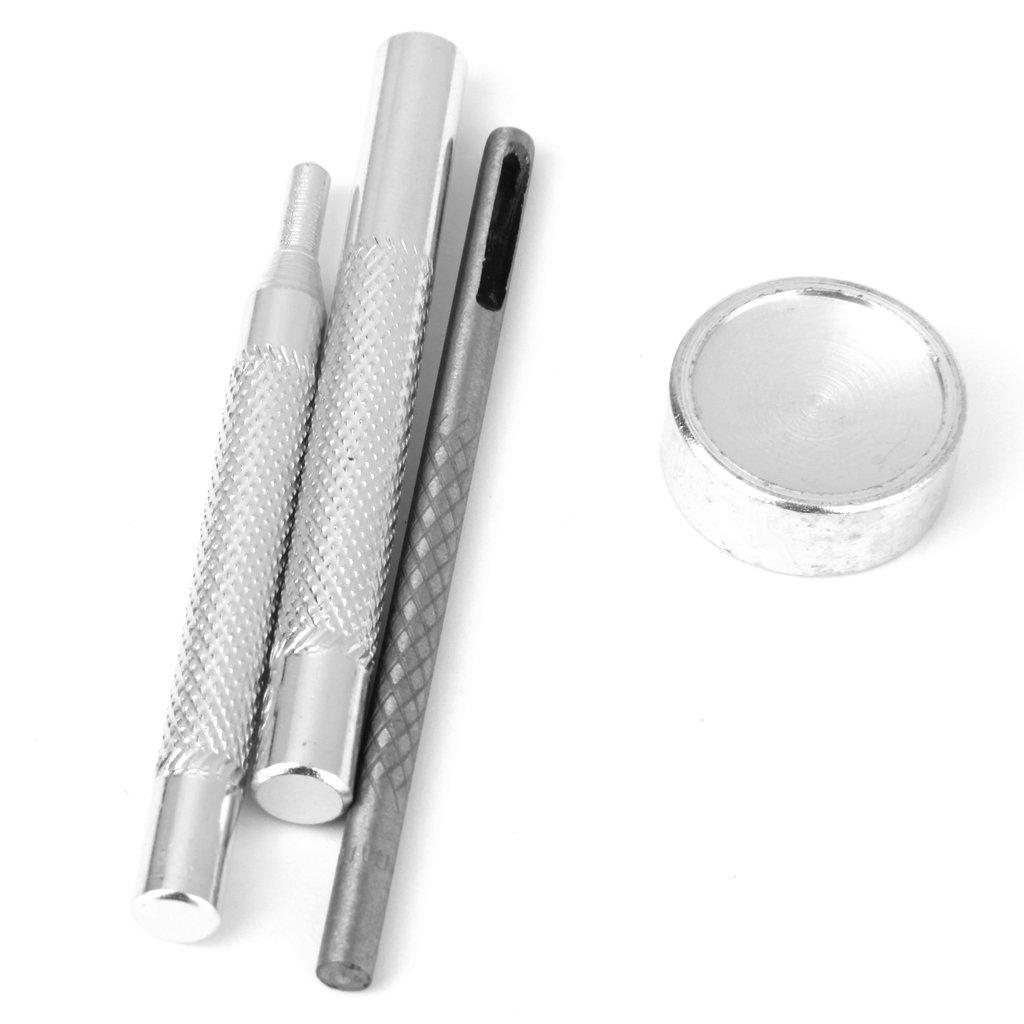 Lot de 4pcs Outils de Poin/çon Perforatrice Montage de Bouton Pression 11-15mm