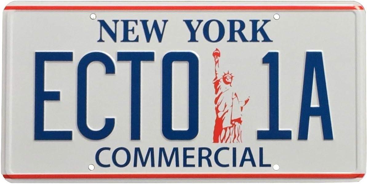 Ghostbusters 2 ECTO-1 New York R/éplique plaque dimmatriculation Prop 300mm x 150mm