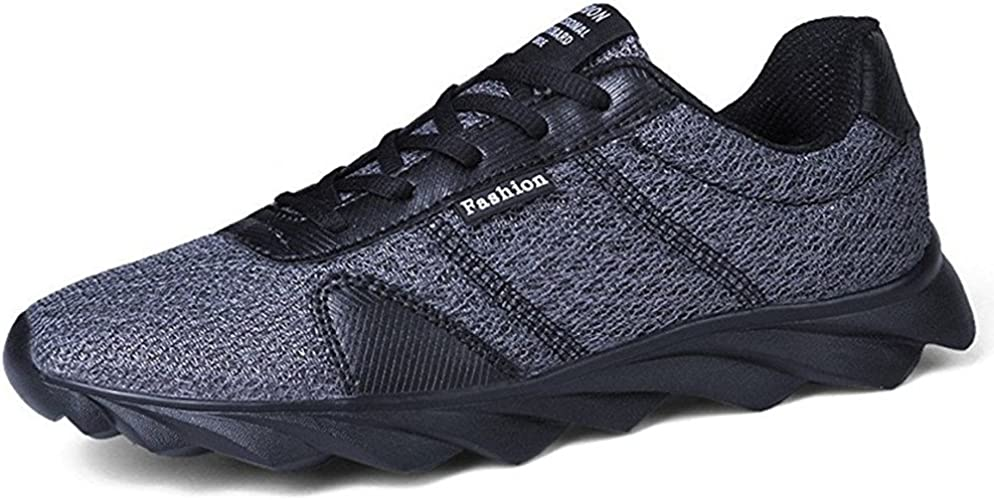 Hombre Zapatos para Correr Deportivos Running Malla Zapatillas Cordones Sneakers Respirable Blade Negro Verde Gris Naranja Gris 43: Amazon.es: Zapatos y complementos