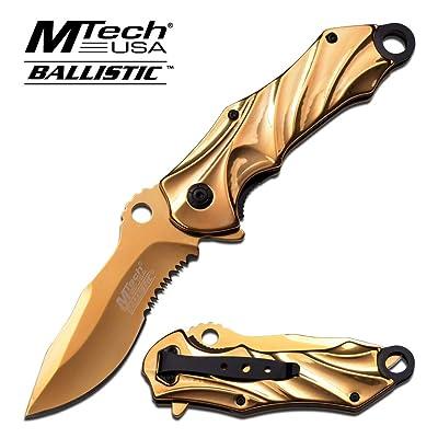 MT-A888GD Couteau de poche Golden Rescue Ouverture rapide